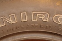 1 Used Tire 205/75/15 UNIROYAL