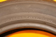 1 Almost New Tire 215/55/17 HANKOOK